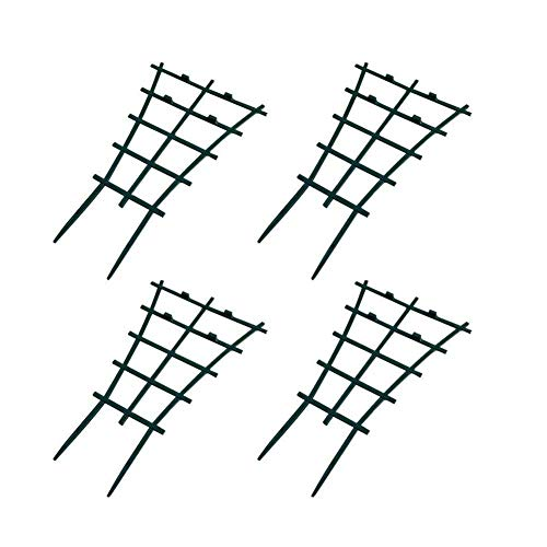 DIY Garden Plant Climbing Trellis,Potted Plant Growing Support,Garden Trellis for Mini Climbing Plant Pot Support Leaf Trellis (4 Pack) ()