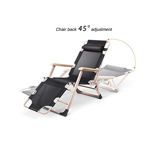 MXueei Sedia reclinabile pieghevole, lettino da giardino pieghevole reclinabile multiuso a gravità zero reclinabile for… 2 spesavip