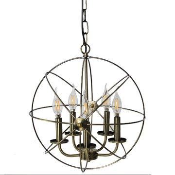 Lucia Lighting Industrial Vintage 5 Lamp Chandeliers – Rustic Ceiling Hanging Fixture - 16