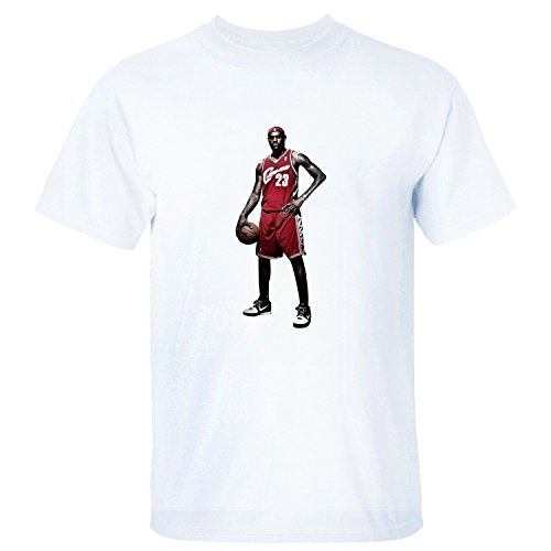 SKNO Men's LeBron James Gametime ComfortSoft Round Neck T-Shirt white XL