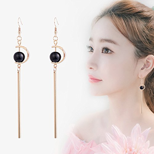 2018 Ja and South Korea trend of the new asymmetric earrings goddess temperament long section of retro ear clip earrings earrings no (Goddess Clip Earrings)