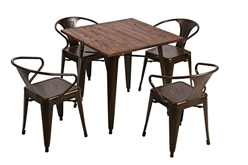 Fancyhouse Kitchen Dining Room Table and 4 Chairs - Set of 5