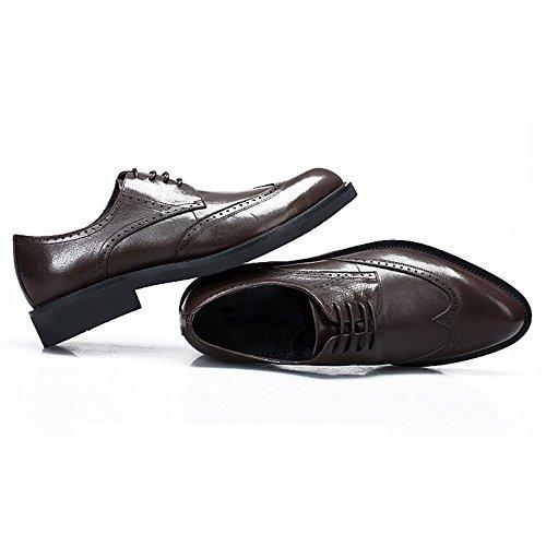 in Scarpe Nera Derby Pelle Bullock Pelle in Business Intagliato da Uomo Scarpe di Brown Dimensioni Uomo Pelle Stringate Scarpe di Grandi pw6dfn