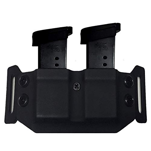 (Elite Force Holsters: Dual Mag Pouch Carrier Holster for Taurus PT709 Slim & PT740 Slim 9/40 Magazines - Black, Right or Left Hand)