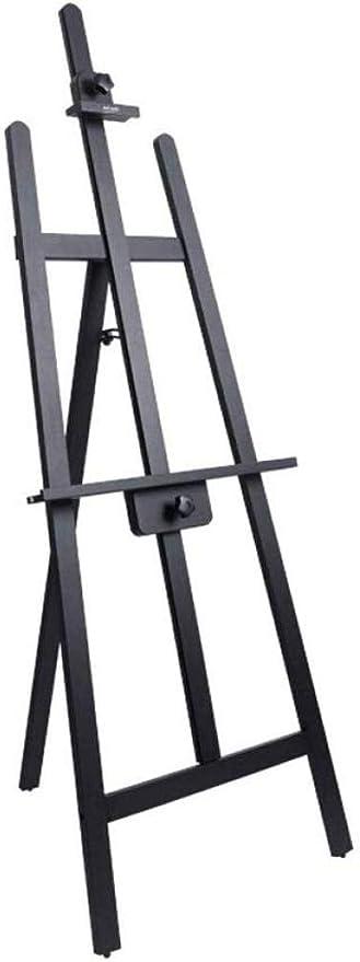 ZFFSC Caballete de madera de alta ajustable Permanente caballete adecuados for Pintor trípode Estudiante Adulto 3 colores 90 * 49 * 165cm, Natural-B (Color : Black, Size : A): Amazon.es: Bricolaje y herramientas