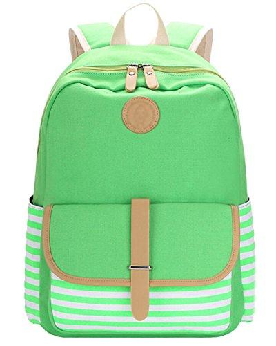 Zaini borsa zaino Moda capacità Zaini verde le grande viaggio tela casual per tela zaini di di borsa donne di di tipo qPUFEwAP4