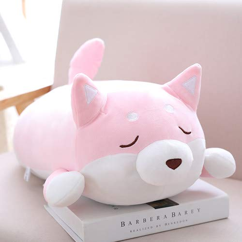 WATOP Stuffed Animals - Teddy Bears | 36/55cm Cute Shiba Inu Plush Stuffed Toys Super Soft Kawaii chai Dog Plush Pillow Cartoon Animal Doll for Kids Baby Gift (Pink Close eyes-55cm)