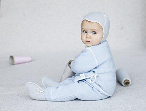 LANACARE Organic Wool Baby Cap, no lace, Soft Grey, size 80 (9-12 mo) (Wool Hat Lace)