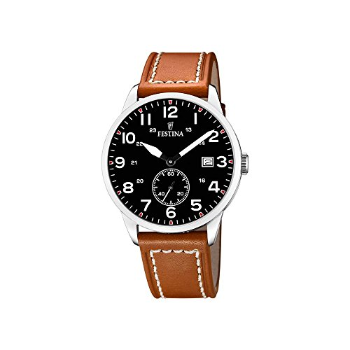 Men's Watch Festina Retro - F20347/7 - Quartz - Date - Leather and Nylon Strap by Festina