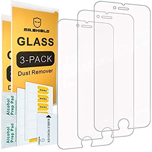 Mr.Shield [Tempered Glass] Screen Protector For iPhone 6 / iPhone 6S / iPhone 7 / iPhone 8 [3-Pack] Screen Protector (Best Privacy Screen Protector For Iphone 5s)