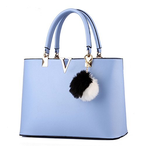 Bolso de mujer Bolso Messenger Crossbody Bolso Tote Azul claro