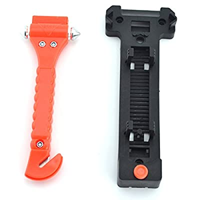 Samyo Car Emergency Rescue Hammer & SeatBelt Cutter Life Hammer Escape Hammer Window Breaker Tool 2 Pack by SAMYO