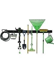 Tool Organizer Garage Opslag Systemen Wandmontage Verwijderbare Rack Organizer Verstelbare Organisatie Haken Hanger voor Hark Schop Gazon Tuin Gereedschap
