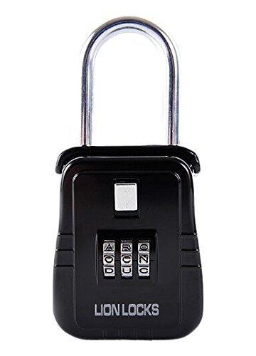 Lion Locks 2100 Hanging Lock Box / Padlock with Alpha Key Style