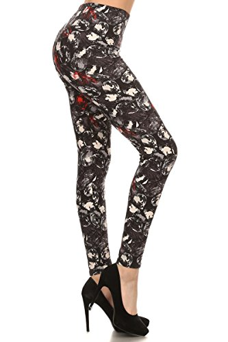 R547-OS Abstract Bubbles Print Fashion Leggings -