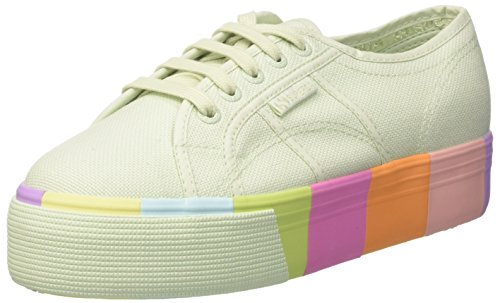 Superga Damen 2790-cotmultifoxingw Sportschoen Multicolore (mint Multicolor)
