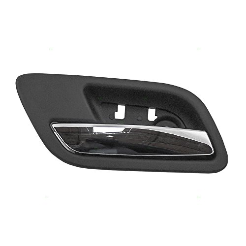 Truck Chrome Interior Door Handle - Drivers Rear Inside Interior Door Handle Chrome Lever with Black Housing Replacement for Chevy GMC Cadillac Pickup Truck SUV 15939073