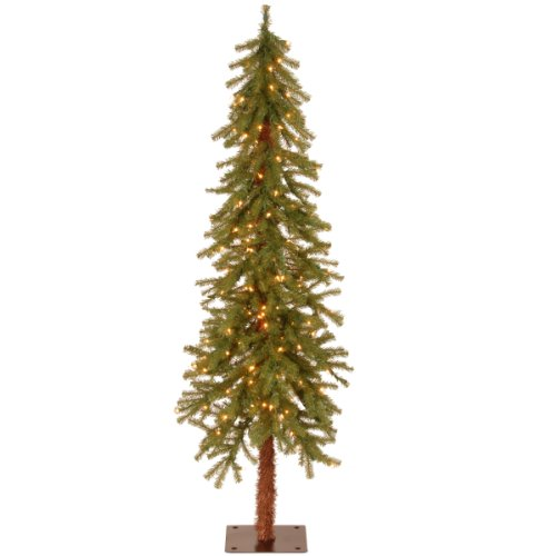 National Tree 5-Foot Hickory Cedar Tree with Clear Lights (CED7-50LO-S) (7-5 Ft Pre Lit Artificial Christmas Trees)