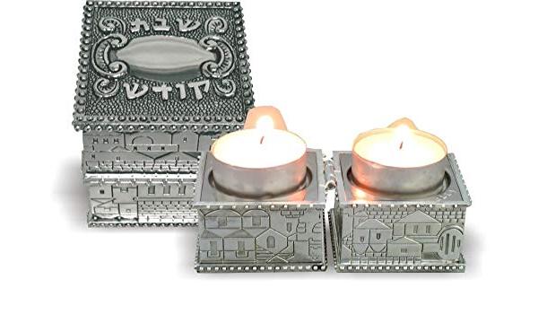 Shabbat candles ceramic Judaica Jewish gift religious Candles holder Shabbat Jewish housewarming gift Shabbos Candle Holder with Love birds