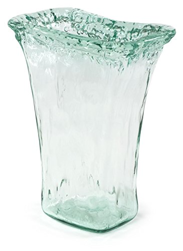 100% Recycled Glass Textured Small Tapered Vase - 8