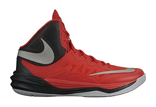 Men's Nike Prime Hype DF II Basketball Shoe Red/Black/Grey/Reflect Silver Size 11.5 M US (Grey Nike High Tops Red And)