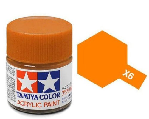 Tamiya Models X-6 Mini Acrylic Paint, Orange