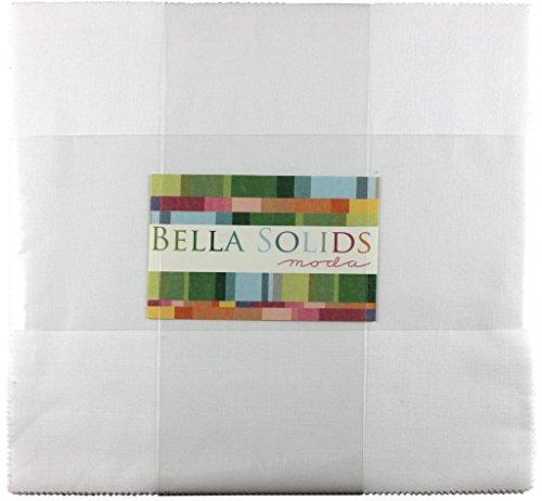 Moda Bella Solids White Junior Layer Cake