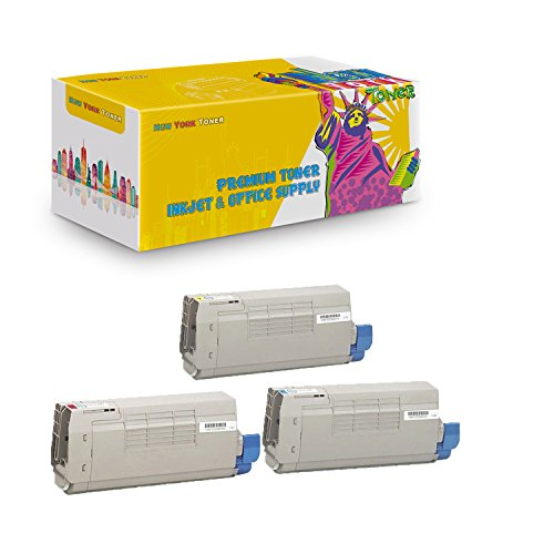 New York TonerTM New Compatible 3 Pack 44318603 44318602 44318601 High Yield Toner for Oki-Okidata : C711 | C711N | C711DN | C711DTN. --Yellow Cyan -