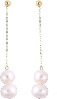 TJC Fresh Water Pearl Drop Dangle Earrings for Women /& Girls in Sterling Silver