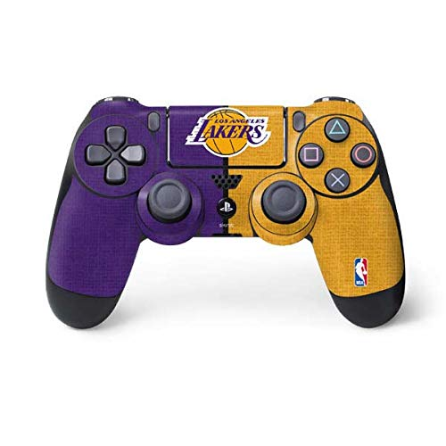 Skinit Los Angeles Lakers Canvas PS4 Controller Skin - Officially Licensed NBA Gaming Decal - Ultra Thin, Lightweight Vinyl Decal Protection ()
