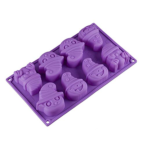 Halloween Molds Silicone Candy Soap Mold Cookie Baking Mold with Ghost Pumpkin ()