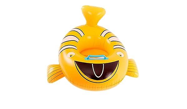 Goodid flotador bebé de animales con asiento y apoyabrazos (Pez amarillo): Amazon.es: Juguetes y juegos