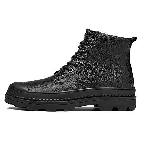 Uomo Boots Antiscivolo Round Industriale Stivale Outdoor da Stivale Black Casual Toe Smart da in Pelle Dealer Lavoro Stivali BOqcwtCacg