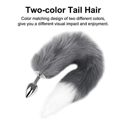 Super-Long-and-Fluffy-Sunny-Fox-Tail-Fur-Anale-Cosplay-Toy-Anale-Fox-Tail-Back-Court-Metal-Fox-Tail-Plug-Bdy-Wand-Massage-GrayWhite-1
