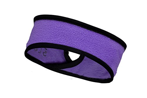 Slope Women's Girl Ponytail Headband Polyester Fleece Full Ear Warmer Sports Coverage Guards Lilac / Black