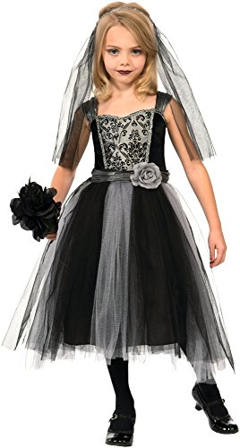 Girls Zombie Bride Halloween Costume (Forum Novelties Gothic Bride Costume, Large)