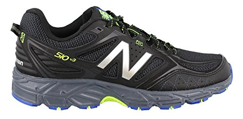New Balance Mens 510v3 Trail Running Shoe, Black/Pacific Toxic, 41.5 EU/7.5 UK