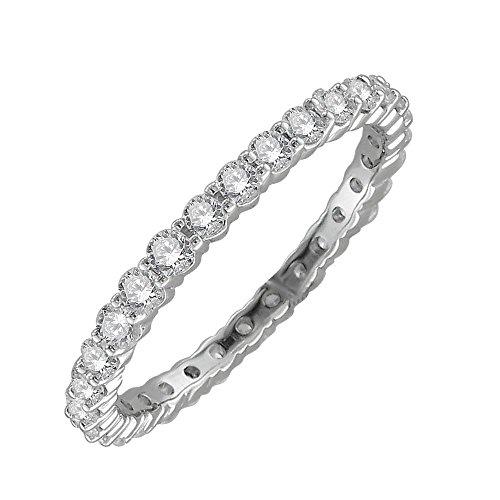 14k White Gold Prong Set Diamond Eternit - Prong Set Diamond Eternity Band Shopping Results