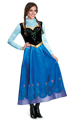 Elsa Costumes Adult Small (Adult Anna Traveling Costume Prestige Edition 83163 (Ladies 4-6))