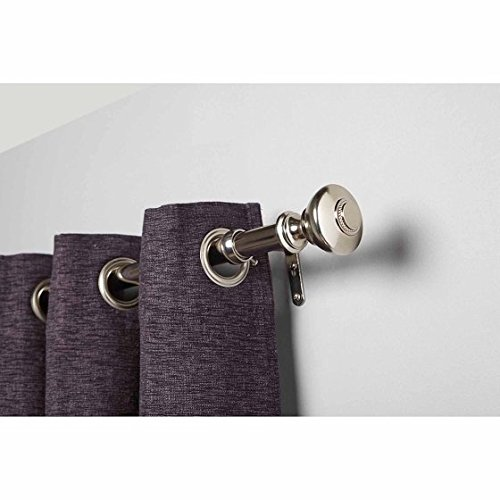 "28"" - 48"" Silver knob and Nickel Drapery Rod Curtain Rod Set,"