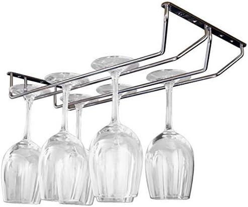 pub Support pour verres /à vin Support pour verres /à vin Finition chrom/ée 27 cm de long Pour cuisine 2 rang/ées bar