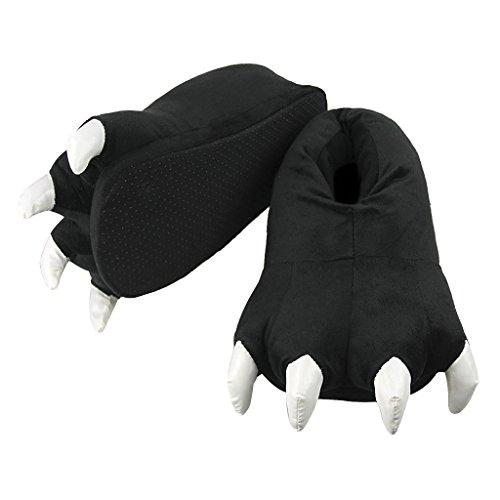 Neue Coral Fleece Unisex Tier Schuhe Claw Plüsch Hausschuhe Halloween CosPlay Hohe Qualität Dinosaurier Claw Hausschuhe Schwarz