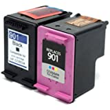 Prestige Cartridge HP 901XL Pack de 2 cartuchos de tinta para HP Officejet Serie, color y negro