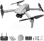 KF102 dobrável GPS 4k Drone Camera Gimbal Professional Brushless Quadcopter cinza branco 3 * baterias (2*batte