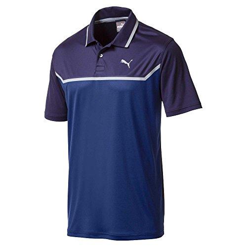 Puma Golf Mens 2018 Bonded Tech Polo, Large, Peacoat-Sodalite Blue
