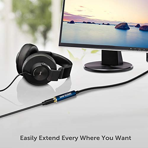 BrexLink Headphone Extension Cable 2Pack4ftHiFi Sound 35mm Auxiliary Extension Cable Nylon Braided