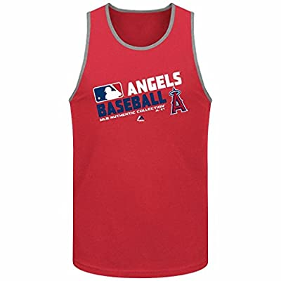 MLB Men's Majestic Authentic Collection Team Choice Tank Top (Xlarge, Los Angeles Angels)
