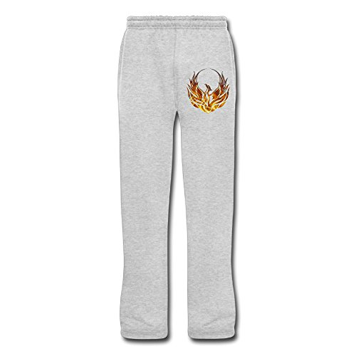 Cozyou Fire Phoenix Men Workout Pants Ash XXL]()