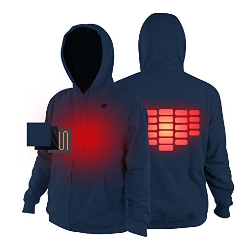 Men Cordless Heated Hoodie Outfit Kit with Battery Pack Winter Warm Jacket 2 Colors