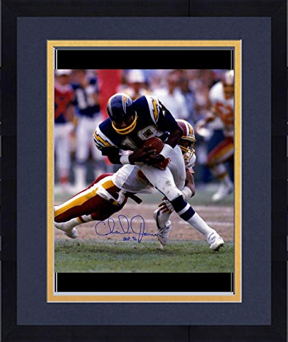 "Framed Charlie Joiner Signed San Diego Chargers 16x20 Photo w/""HOF 96""Insc. - Steiner Sports Certified"